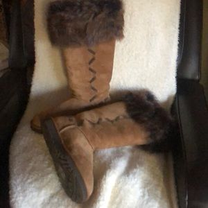 Awe UGG Boots with fur tops no NWOT need to sell!!
